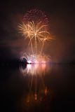 Colorful spectacular fireworks Royalty Free Stock Photos