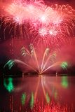 Colorful spectacular fireworks Royalty Free Stock Photography