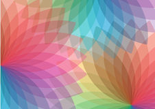 Colorful spectral background. Illustration of colorful spectral background of floral shapes Stock Photography