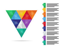 Colorful spectrum rainbow geometric triangular presentation infographic diagram chart. Vector graphic template. Stock Photos
