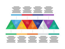 Colorful spectrum rainbow geometric triangular presentation infographic diagram chart. Vector graphic template. Royalty Free Stock Image