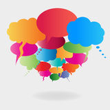 Colorful speech balloons Royalty Free Stock Photos