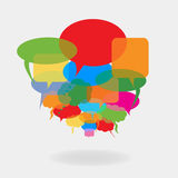 Colorful speech balloons Royalty Free Stock Image