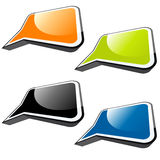 Colorful speech balloons Stock Photos