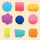 Colorful Speech Bubble royalty free stock photography