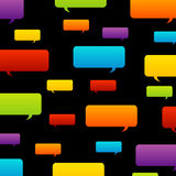 Colorful speech bubble background Stock Photos