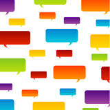 Colorful speech bubble background Stock Photography
