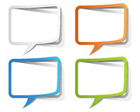 Colorful Speech Bubble Borders Stock Photography