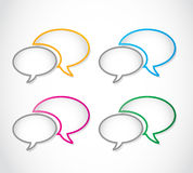 Colorful speech bubble frame set. Abstract background stock illustration
