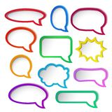 Colorful speech bubble frames. Royalty Free Stock Images