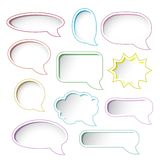 Colorful speech bubble frames. Stock Photography