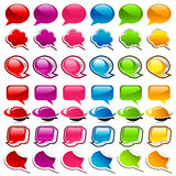 Colorful Speech Bubble Icons Royalty Free Stock Photography