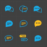 Colorful Speech bubble icons Stock Photography