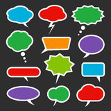 Colorful speech bubble set on grey background Stock Images