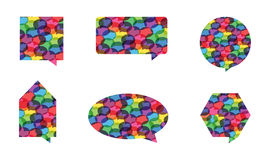 Colorful Speech Bubble Vectors stock photos