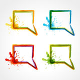 Colorful speech bubbles Royalty Free Stock Images