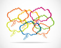 Colorful speech bubbles Stock Image
