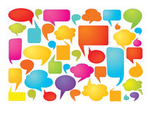 Colorful speech bubbles. Colorful set of speech bubbles on white background