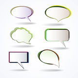 Colorful Speech Bubbles Royalty Free Stock Photo
