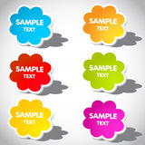Colorful  speech bubbles and arrows Royalty Free Stock Image