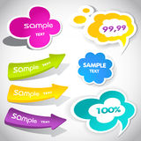 Colorful  speech bubbles and arrows Stock Photo