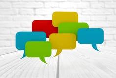 Colorful speech bubbles Stock Images