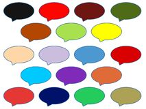 Colorful Speech Bubbles Cloud Royalty Free Stock Photography