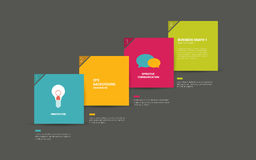 Colorful speech bubbles diagram with text fields. Royalty Free Stock Photos