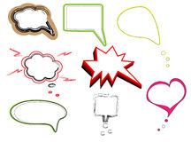 Colorful speech bubbles and dialog balloons vector Royalty Free Stock Image