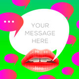 Colorful speech bubbles fashion background Stock Image