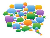Colorful speech bubbles group Stock Photo