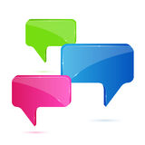 Colorful speech bubbles. Isolated on white background, illustration Royalty Free Stock Images