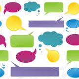 Colorful speech bubbles pattern Royalty Free Stock Images
