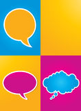 Colorful speech bubbles poster Stock Image