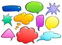 Colorful speech bubbles set. Colorful set of speech bubbles vector illustration