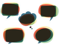 Colorful Speech Bubbles Stock Image