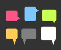 Colorful Speech Bubbles Set Royalty Free Stock Image