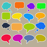 Colorful speech bubbles Thinking bubble. Colorful speech bubbles or Thinking bubble Royalty Free Stock Photo