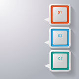 Colorful Speech Bubbles Three Options Royalty Free Stock Photos