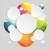 Colorful Speech Bubbles With Transparent Background Stock Image