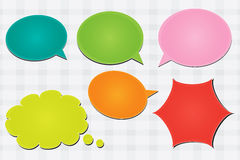 Colorful speech bubbles vector Royalty Free Stock Photography