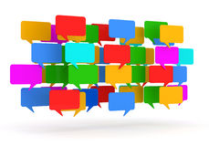 Colorful Speech Bubbles on white background Royalty Free Stock Image