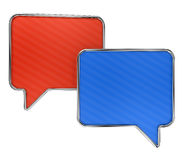 Colorful speech bubbles on white Stock Image