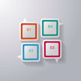 Colorful Speech Bubbles Window. Four colorful speech bubbles on the grey background. Eps 10  file Stock Photography