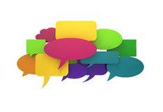 Colorful speech cloud Stock Photos