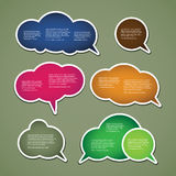 Colorful Speech Labels and Tags Royalty Free Stock Photos