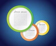 Colorful Speech text bubbles illustration design Stock Photos