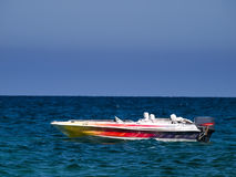 Colorful Speedboat Stock Photography