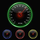 Colorful Speedometer Illustration Royalty Free Stock Photos