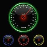 Colorful Speedometer Illustration. On a black background vector illustration